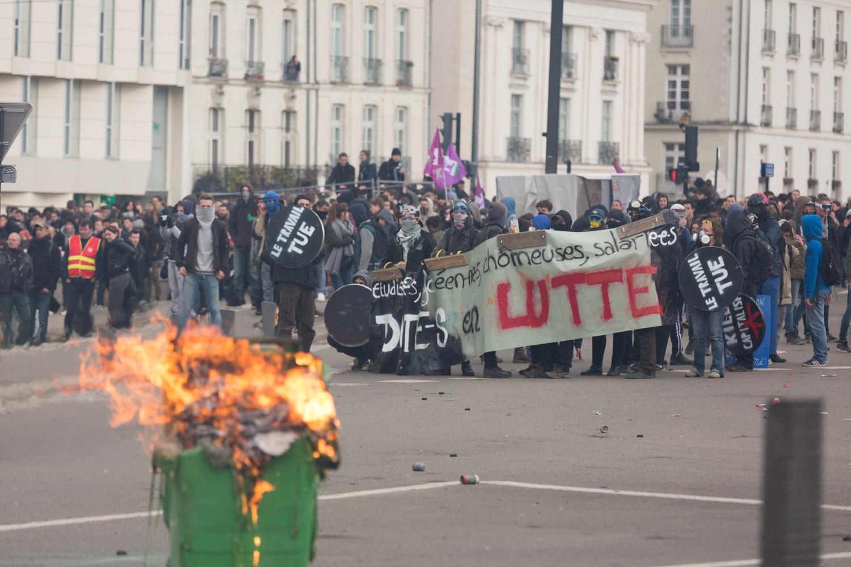 Manifestation anti loi El Khomri à Nantes le 31 mars 2016
