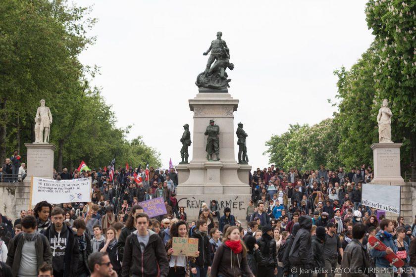 Nouvelle manifestation contre la loi travail à Nantes