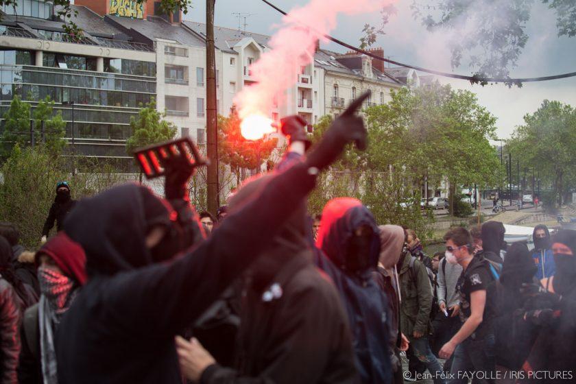 Une autre manifestation violente à Nantes contre la loi Travail