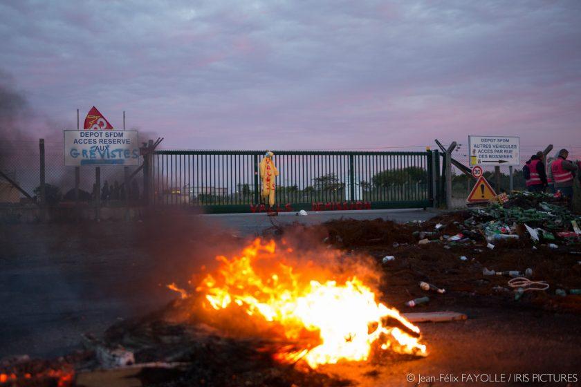 Blocage de la raffinerie de Donges