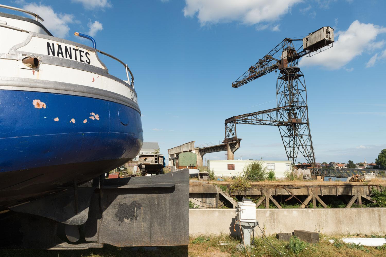 Grue Noire des chantiers navals de l'Esclin, bas-Chantenay