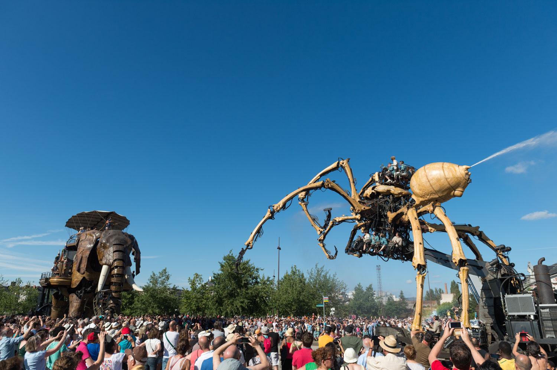 Dans le cadre du voyage à Nantes (VAN). Il s'agissait de la dernière sortie de l'araignée à Nantes pour cette année.