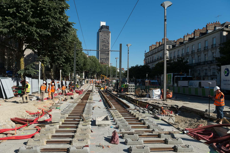 A commerce, les lignes de tramways sont bloquées pour cause de grands travaux de rénovation