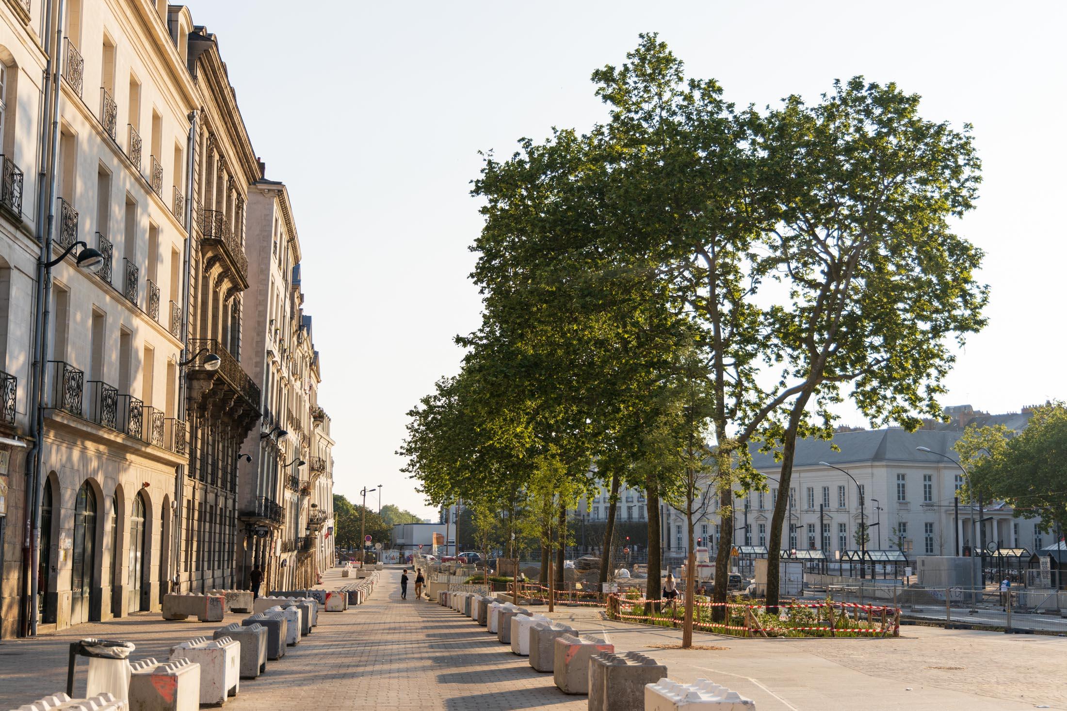 Nantes town center is empty. Nantes, France - April 24th 2020.Le centre-ville de Nantes est vide. Nantes, France - 24 avril 2020.